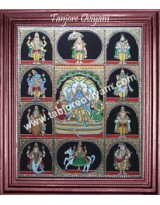 Dashavatharam Antique Finish Work