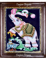 Elephant With Lotus