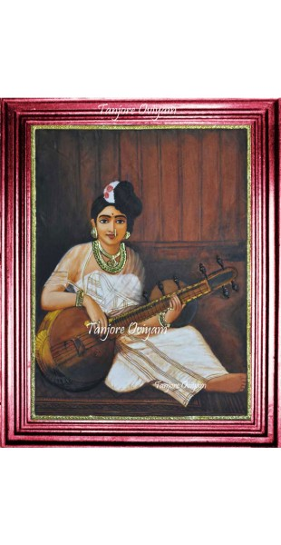 Lady with veena Portraits